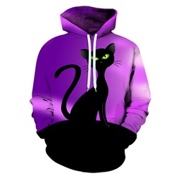 Print Pullover Pullover Loose Hoodies