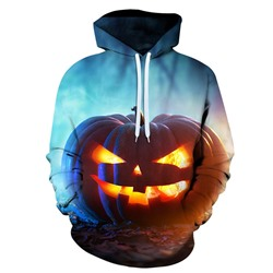 Halloween Pullover Print Hooded Loose Hoodies