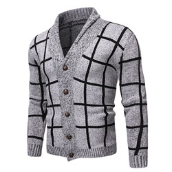 Standard Plaid Lapel Loose Fall Sweater