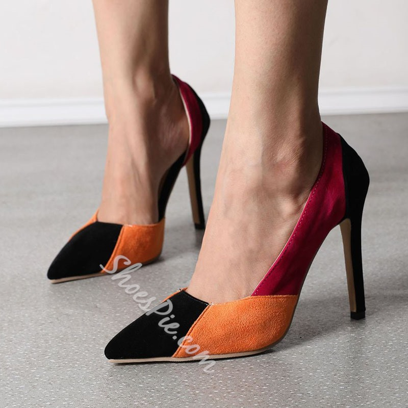 Shoespie Trendy Slip-On Pointed Toe Stiletto Heel Ultra-High Heel(≥8cm) Thin Shoes