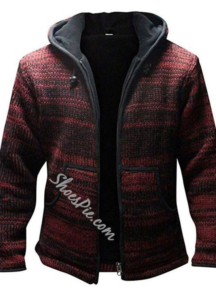 Standard Hooded Winter Casual Sweater