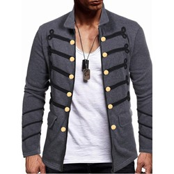 Color Block Lapel Slim Fall Jacket