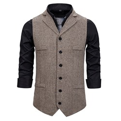 Plain Single-Breasted OL Waistcoat