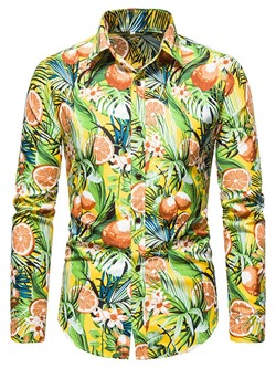 Casual Floral Print Fall Single-Breasted Shirt