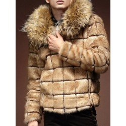 Standard Plaid Zipper Winter Coat