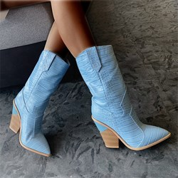 Shoespie Stylish ≤1cm Plain Slip-On Pointed Toe Short Floss Boots