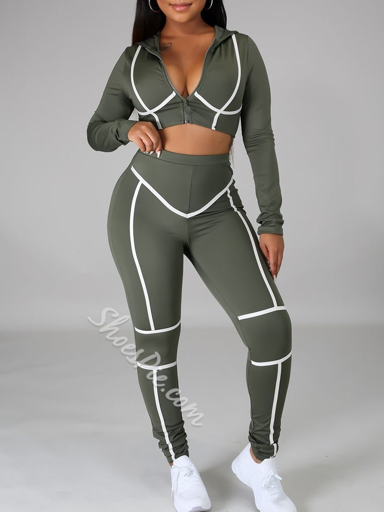 Polyester Breathable With Hood Stripe Full Length Basketball Clothing Sets
