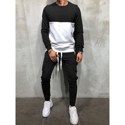 Patchwork Hoodie Sports Spring Outfit