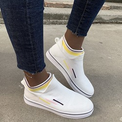 Shoespie Sexy Thread Low-Cut Upper Round Toe Patchwork Sneakers