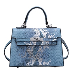Shoespie PU Thread Alligator Korean Square Tote Bags