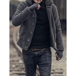 Thick Plain Pocket European Winter Jacket