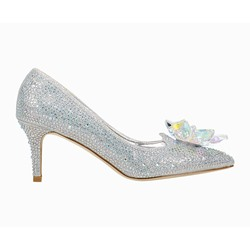 Shoespie Trendy Rhinestone Pointed Toe Stiletto Heel Low-Cut Upper Thin Shoes
