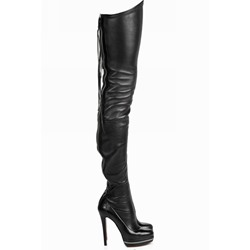 Shoespie Sexy Plain Back Zip Stiletto Heel PU Boots