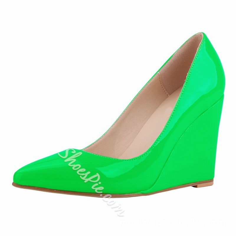 Shoespie Stylish Slip-On Candy Color Pointed Toe 10cm Thin Shoes