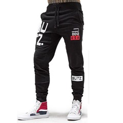 Number Pencil Pants Print Fall Lace-Up Casual Pants