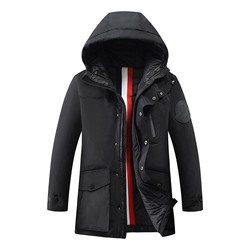 Pocket Hooded Standard Zipper Korean Down Jacket