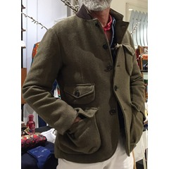 Pocket Stand Collar Plain Single-Breasted Winter Jacket