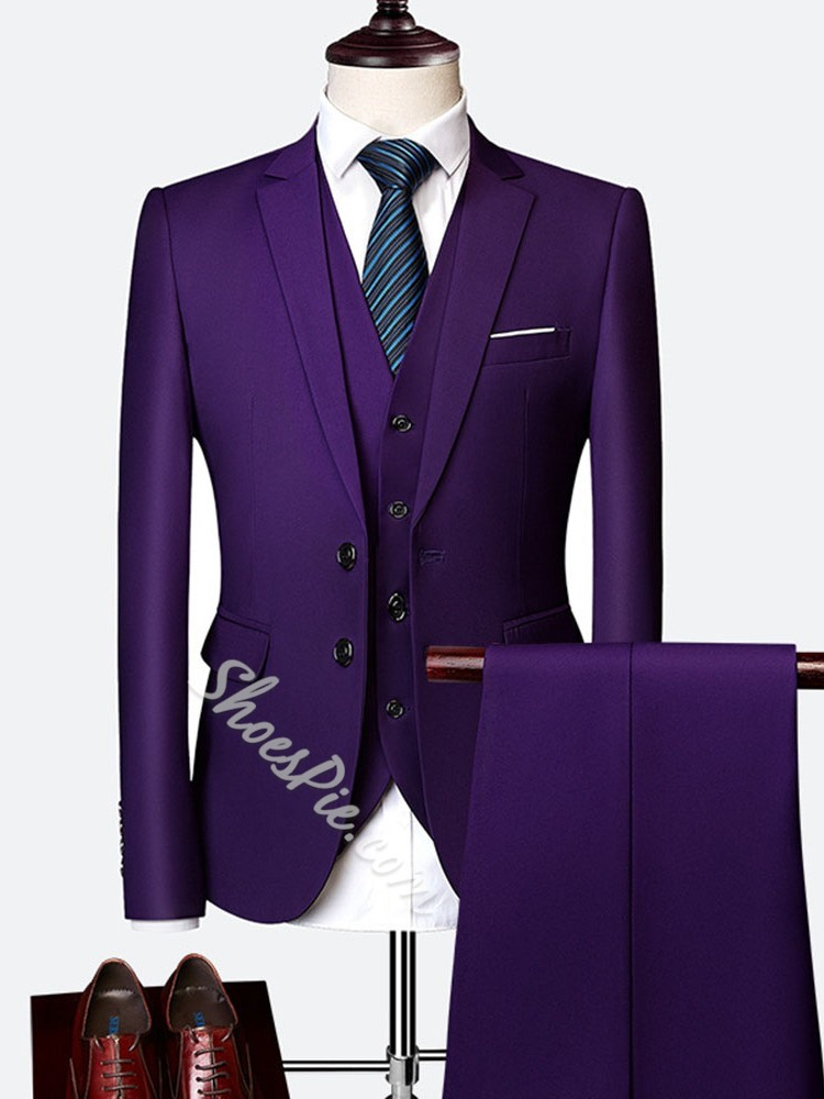 Blazer Single-Breasted Formal Dress Suit