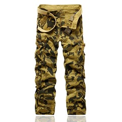 Straight Camouflage Pocket Four Seasons European Casual Pants