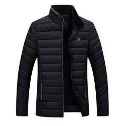 Stand Collar Standard Korean Zipper Down Jacket