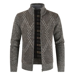 Patchwork Standard Stand Collar Slim Casual Sweater