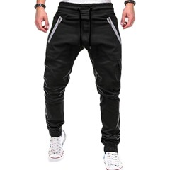 Pencil Pants Camouflage Print Lace-Up Mid Waist Casual Pants