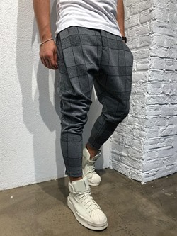 Pencil Pants Plaid Summer Mid Waist Casual Pants