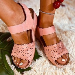 Shoespie Trendy Wedge Heel Strappy Elastic Band Western Sandals