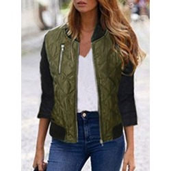 Zipper Slim Long Sleeve Fall Women's Jacket