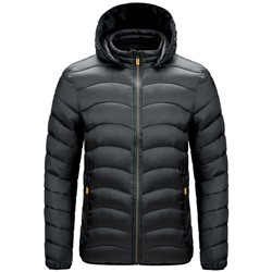 Stand Collar Standard Plain Casual Zipper Down Jacket