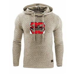 Pullover Print Letter Loose Hooded Hoodies