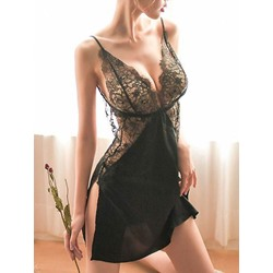 Patchwork Plain Lace Nightgown Babydolls