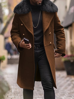 Plain Long Lapel OL Straight Coat