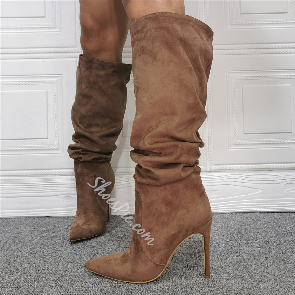 Shoespie Sexy Stiletto Heel Pointed Toe Plain Short Floss Boots