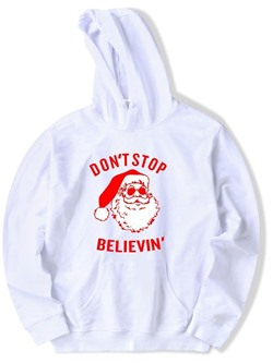 Pocket Pullover Letter Pullover Loose Hoodies