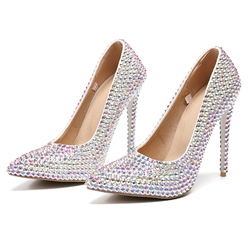 Shoespie Sexy Stiletto Heel Slip-On Rhinestone Low-Cut Upper Thin Shoes
