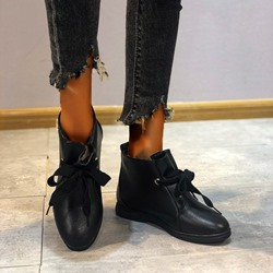 Shoespie Sexy Lace-Up Front Round Toe Block Heel Sequin Boots