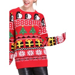 Thin Patchwork Regular Fall Women's Sweater