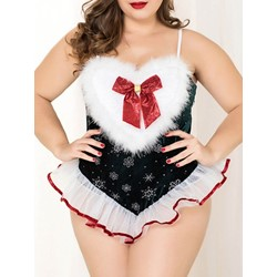 Diamond Color Block Polyester Christmas Sleeveless Sexy Costumes