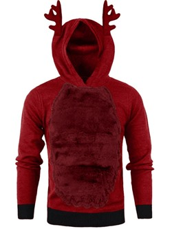 Pullover Patchwork Fleece Fall Pullover Hoodies