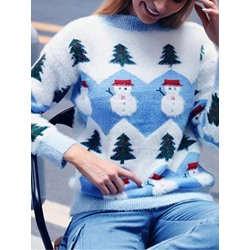 Christmas Snow Straight Women's Sweater