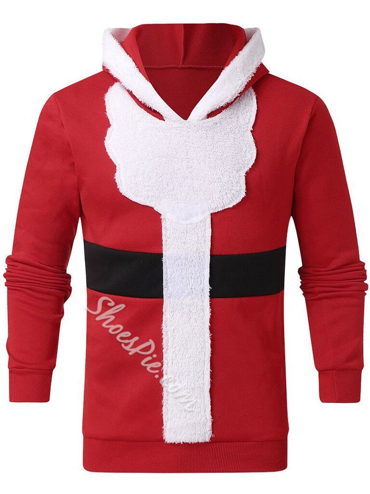 Patchwork Pullover Fleece Casual Pullover Hoodies