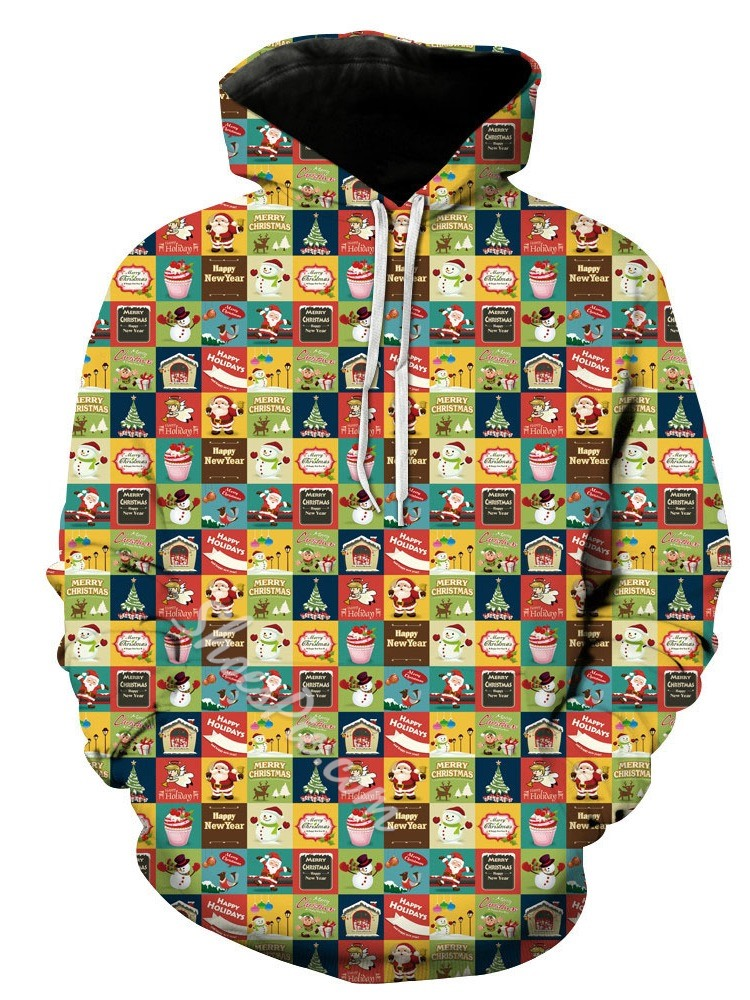 Pullover Print Letter Hooded Casual Hoodies