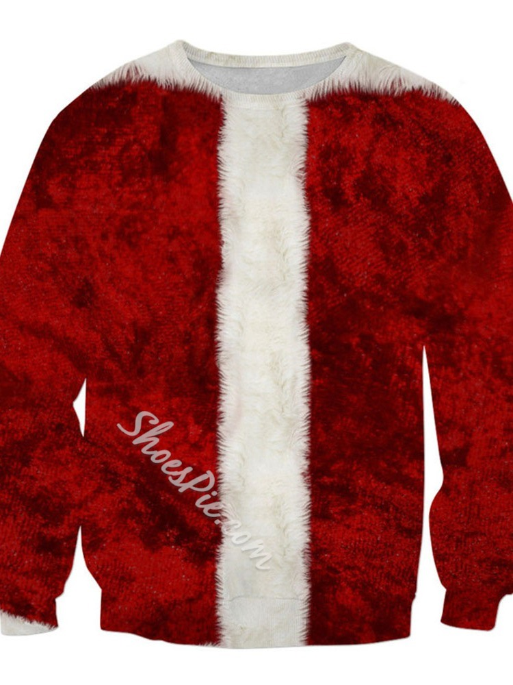 Christmas Print Pullover Pullover Loose Hoodies