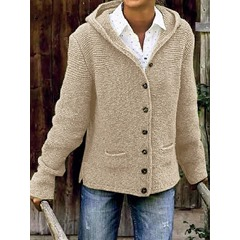 Single-Breasted Thick Regular Standard Women's Sweater