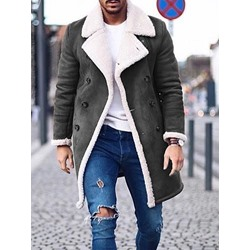Lapel Mid-Length European Double-Breasted Down Jacket
