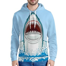 Print Pullover Hooded Slim Hoodies