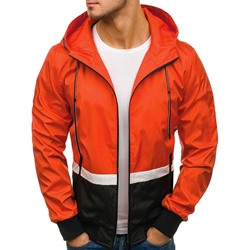 Hooded Color Block Patchwork Zipper Casual Jacket