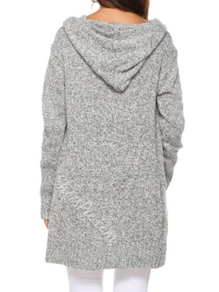 Regular Single-Breasted Patchwork Loose Women's Sweater
