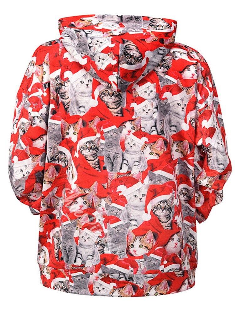 Print Animal Pullover Fall Pullover Hoodies